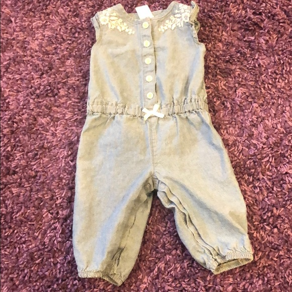 Carter's Other - Baby Girl Chambray Romper Sz 3 Months